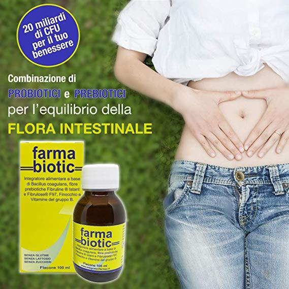 Farmabiotic 100 Ml Fermenti Lattici Probiotici E Prebiotici Integratori Farmac